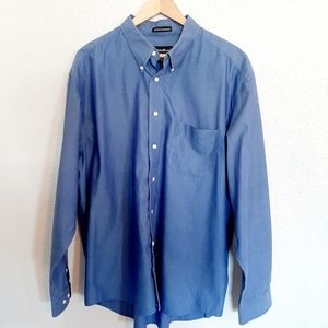NWOT Eddie Bauer Blue Button Up Dress Shirt
